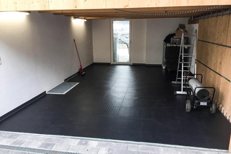 Fußbodenbelag Werkstatt ~ Premium pvc mm werkstatt fliese diamond farbe schwarz